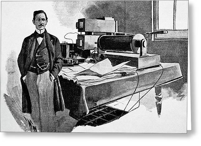 Guglielmo Marconi Greeting Card by Bildagentur-online/tschanz