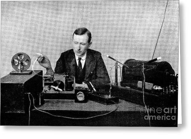 Guglielmo Marconi, Radio Inventor Greeting Card by Spl
