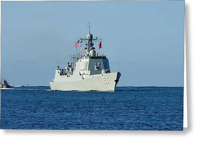 Guided-missile Destroyer Xian Greeting Card by Stocktrek Images