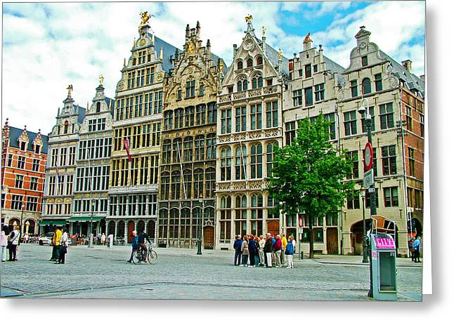 Guild Houses In Antwerpen-belgium Greeting Card by Ruth Hager