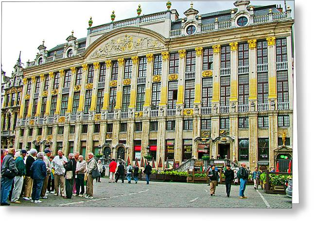 Guild Houses In De Grote Markt In Brussels-belgium Greeting Card by Ruth Hager