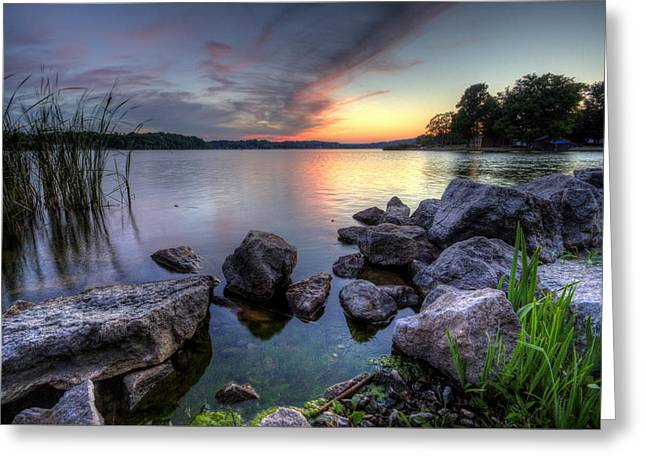 Guilford Lake Sunset Greeting Card