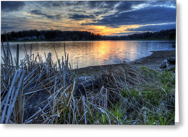 Guilford Lake Sunset Ohio Greeting Card