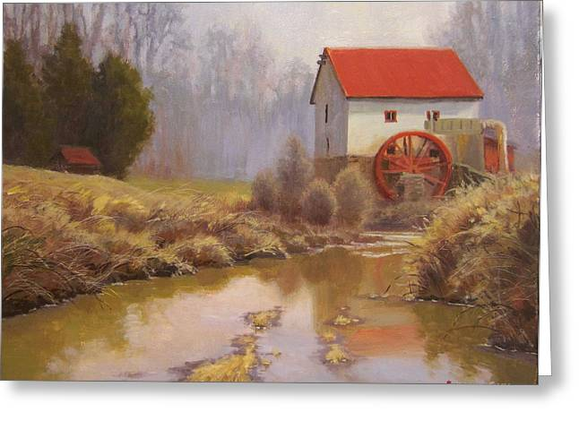 Guilford Mill En Plein Air Greeting Card by Jeremy Sams