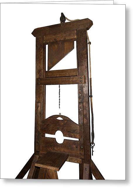 Guillotine From Spain Greeting Card