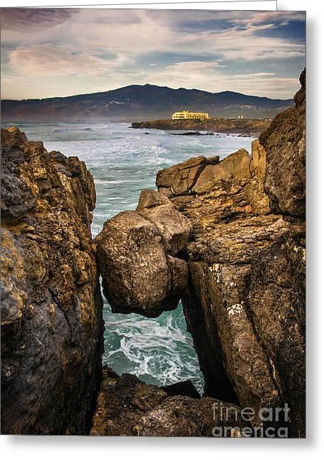 Guincho Coastline Greeting Card by Carlos Caetano