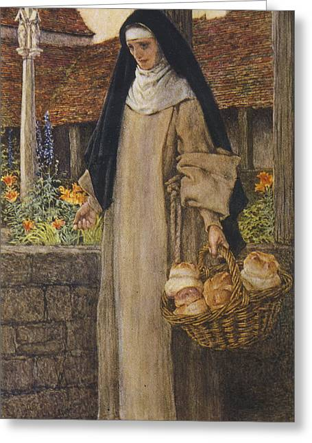 Guinevere At The End Of Her  Life Greeting Card
