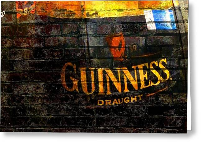 Guinness Cooler Greeting Card by Chris Berry