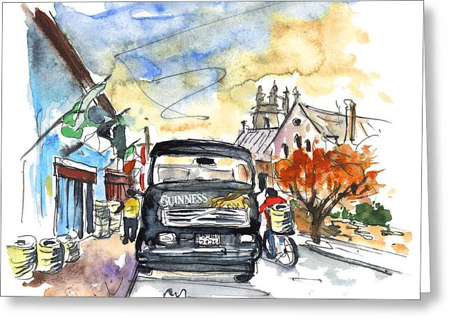 Guinness Delivery In Howth Greeting Card by Miki De Goodaboom