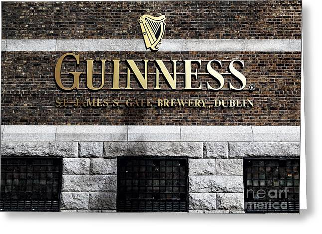Guinness Greeting Card by John Rizzuto