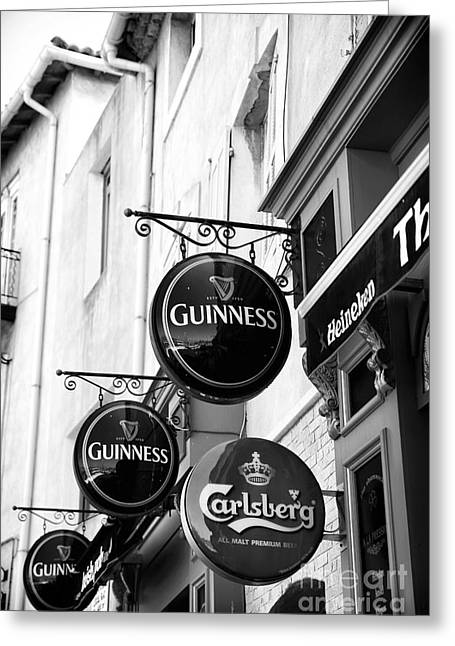 Guinness Three Times Greeting Card by John Rizzuto