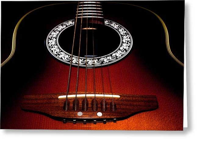 Guitar Abstract Greeting Card by Richard Stephen