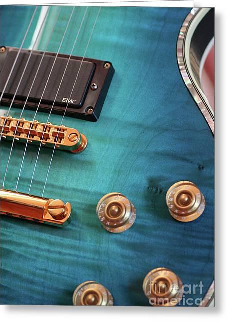 Guitar Blues Greeting Card