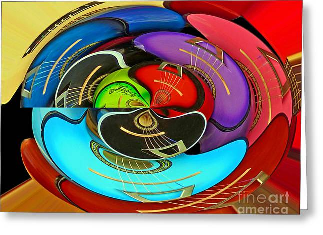 Greeting Card featuring the photograph Guitar Circle by Cheryl Del Toro