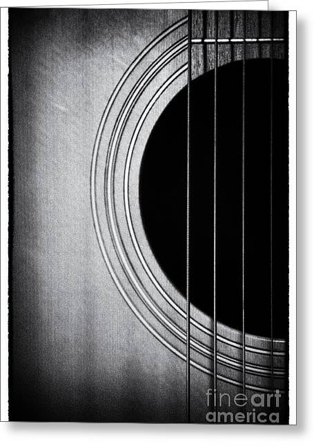 Guitar Film Noir Greeting Card by Natalie Kinnear