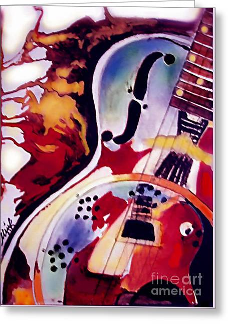 Guitar Flow Greeting Card