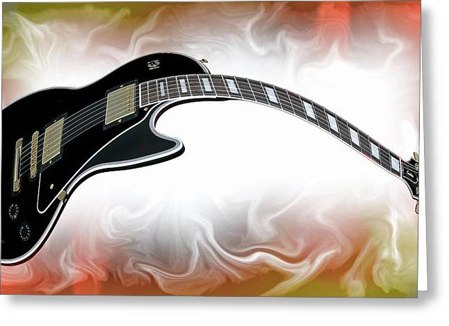 Guitar Heat Greeting Card