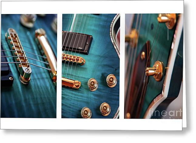 Greeting Card featuring the photograph Guitar Life by Joy Watson
