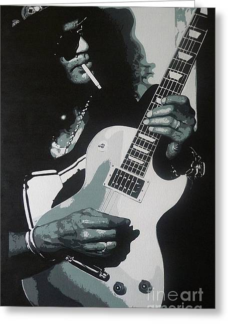 Guitar Man Greeting Card by ID Goodall