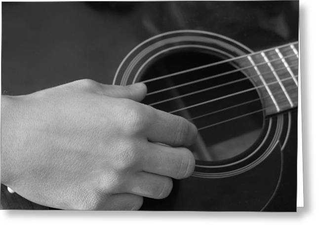 Guitar Greeting Card by Mark C Ettinger