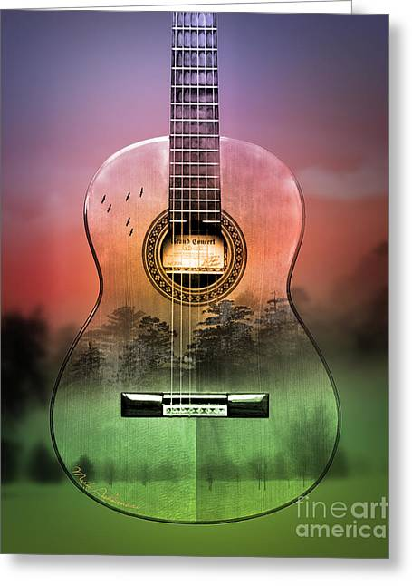 Guitar Nature  Greeting Card