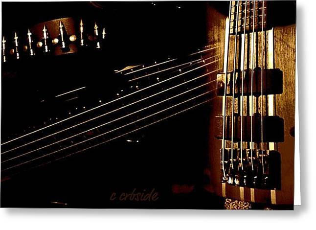 Guitar Panorama  Greeting Card by Chris Berry