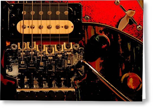 Greeting Card featuring the photograph Guitar Pickup by John Stuart Webbstock