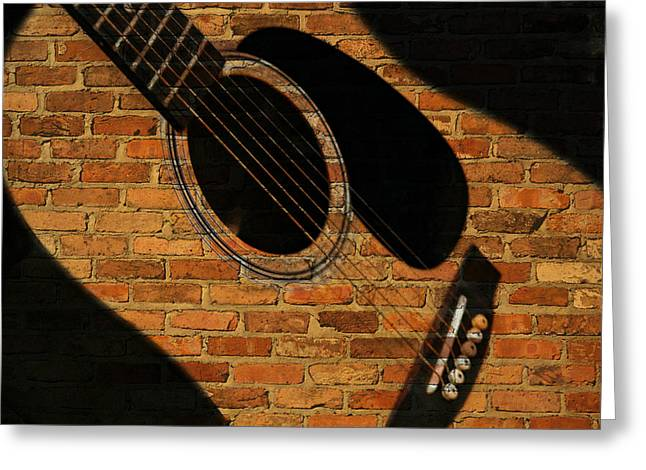 Guitar Shadow Greeting Card