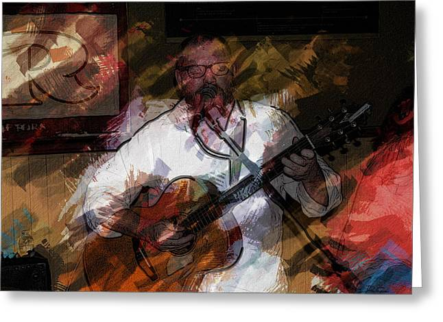 Guitar Singer Greeting Card