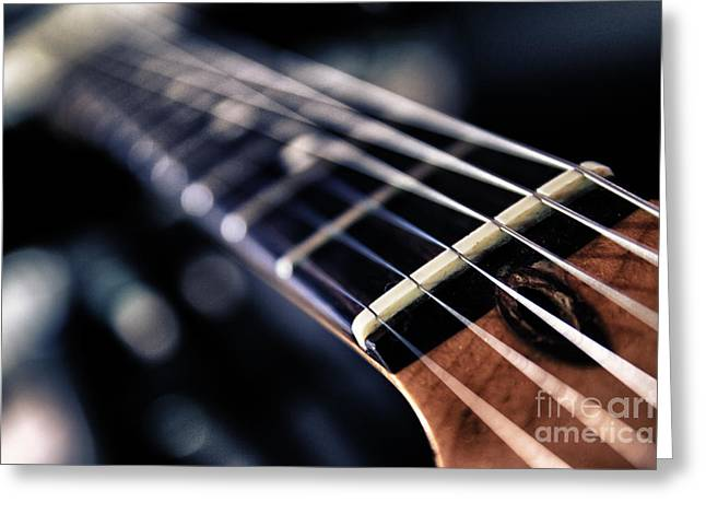 Guitar Strings Greeting Card by Stelios Kleanthous