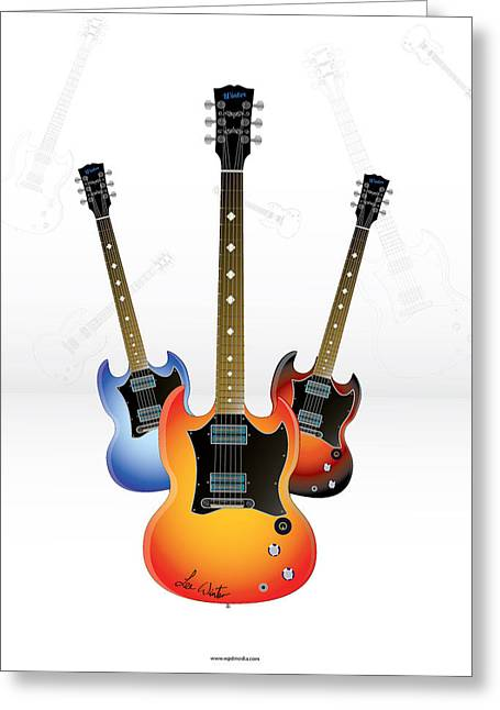 Guitar Style Greeting Card