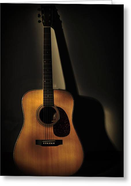 Guitar Greeting Card by Terry DeLuco