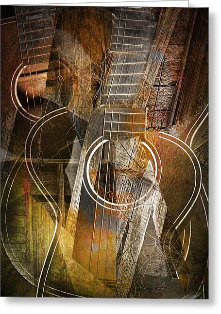 Guitar Works Greeting Card by Randall Nyhof