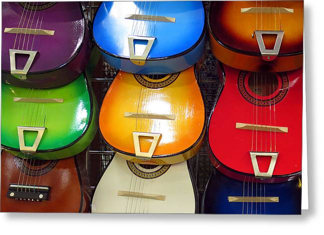 Greeting Card featuring the photograph Guitaras San Antonio  by Rick Locke