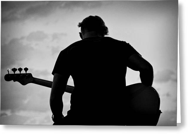 Guitarist - Funktography By Nerisha Ray Singh Greeting Card by Nerisha Ray Singh