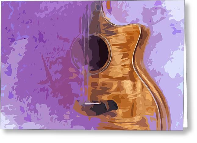 Guitarra Acustica 5 Greeting Card by Pablo Franchi