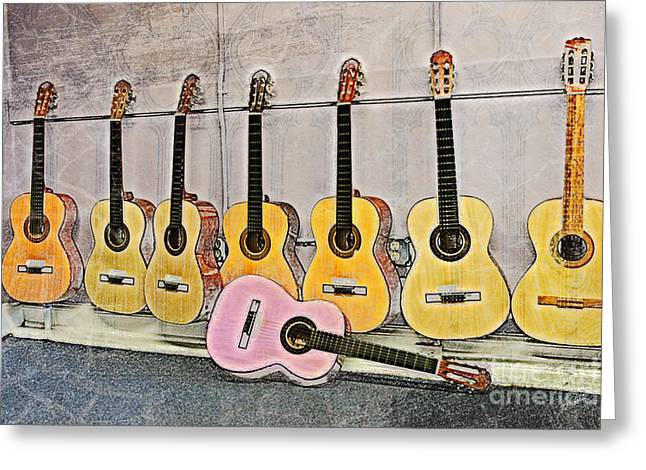 Guitars Greeting Card