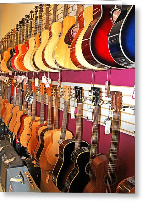 Guitars For Sale Greeting Card