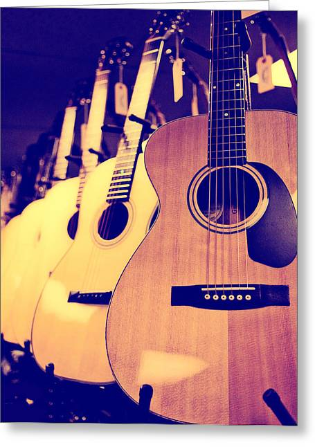 Guitars For Sale Greeting Card by Susan Stone