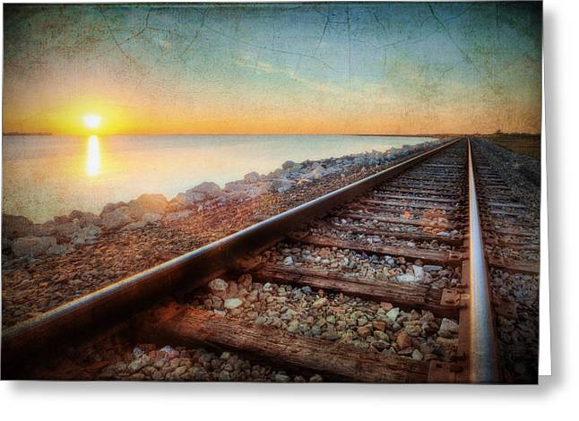 Gulf Coast Railroad Greeting Card by Ray Devlin