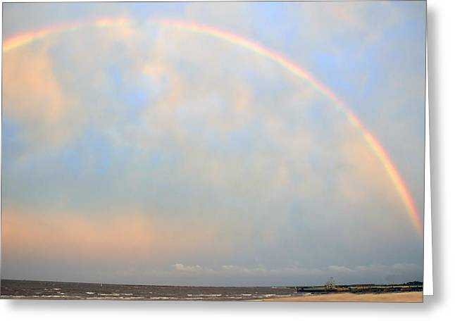 Greeting Card featuring the photograph Gulf Coast Rainbow by Charlotte Schafer