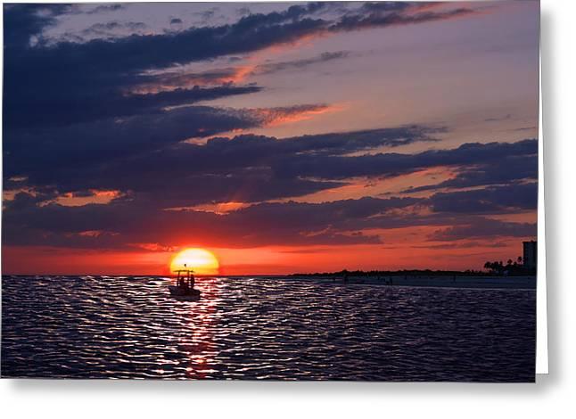 Gulf Coast Sunset Greeting Card
