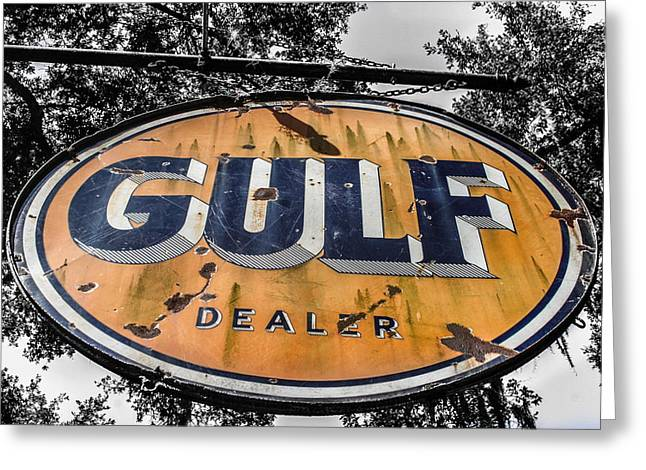 Gulf Dealer Sign Greeting Card by Steven  Taylor