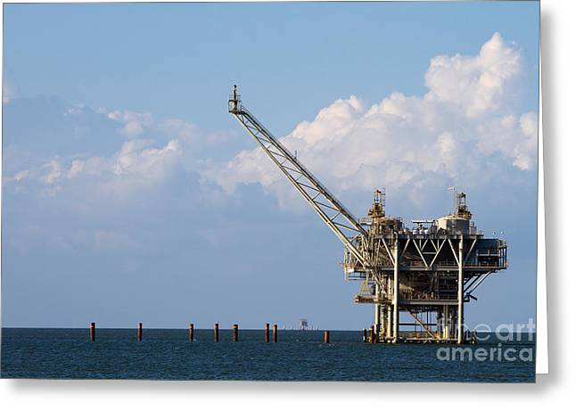 Gulf Oil Rig Greeting Card