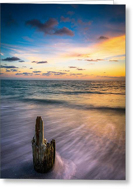 Gulf Skies Greeting Card by Clay Townsend