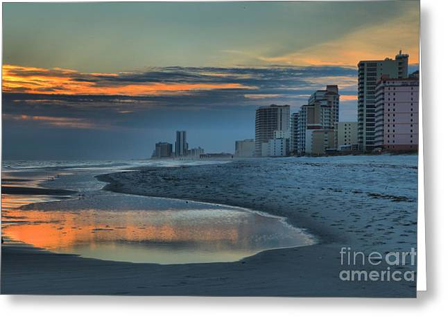 Gulf State Park Sunset Greeting Card by Adam Jewell