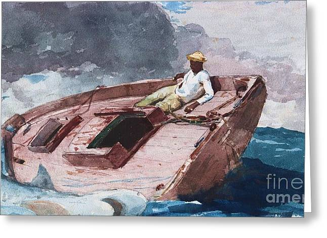 Gulf Stream 2 Greeting Card by Pg Reproductions