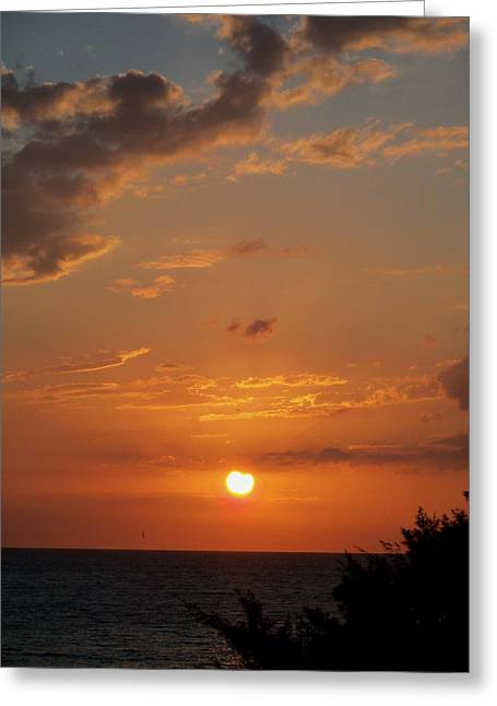 Gulf Sunset Greeting Card by Katie Beougher