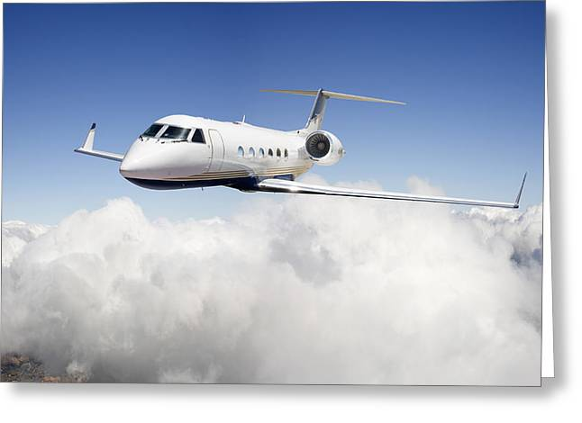 Gulfstream G-450 Greeting Card by Larry McManus