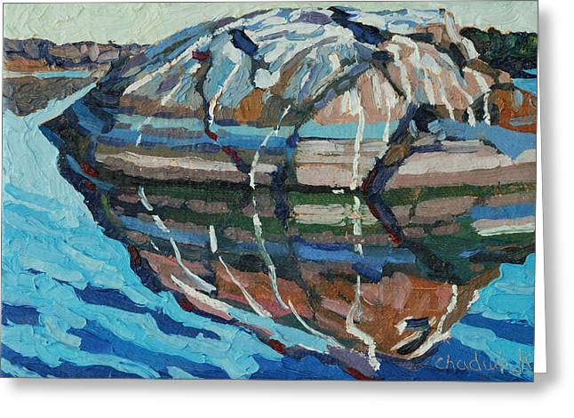 Gull Rock Greeting Card by Phil Chadwick